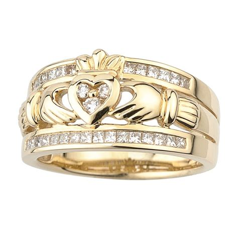 14k gold claddagh ring fallers ie fallers