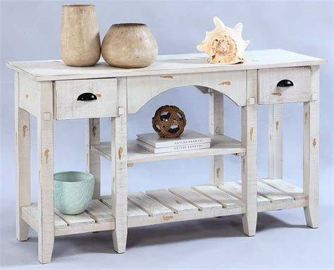 white distressed sofa table willow distressed white console table from progressive