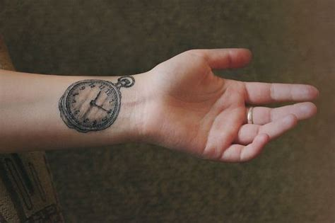 watch tattoo on wrist 31 best images about clock tattoos on