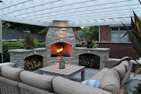 patio fireplace ideas acvap homes design