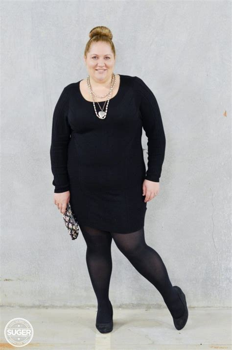 10 Plus Size Fashion Blogs by Knit Dress Tights She Wore What