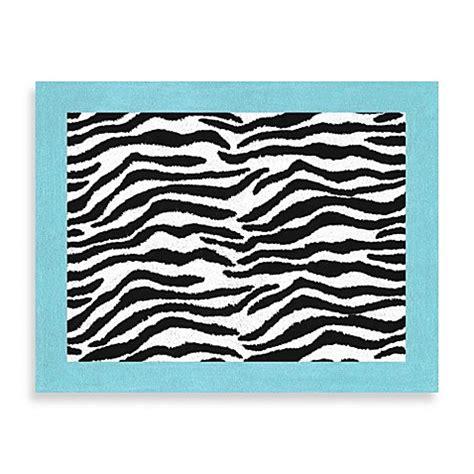 Funky Bathroom Rugs Sweet Jojo Designs Funky Zebra Rug In Turquoise Bed Bath Beyond
