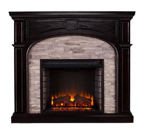 Stacked Electric Fireplace by 45 75 Quot Tanaya Electric Fireplace W Gray Stacked