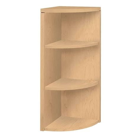 3 Shelf Corner Bookcase Laminate Office Corner Three Shelf Bookcase The Furniture Family