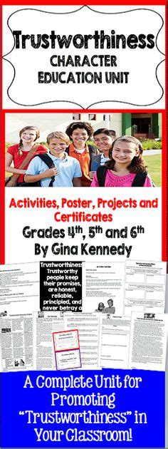 character education themes elementary character first education lessons activity sheets and
