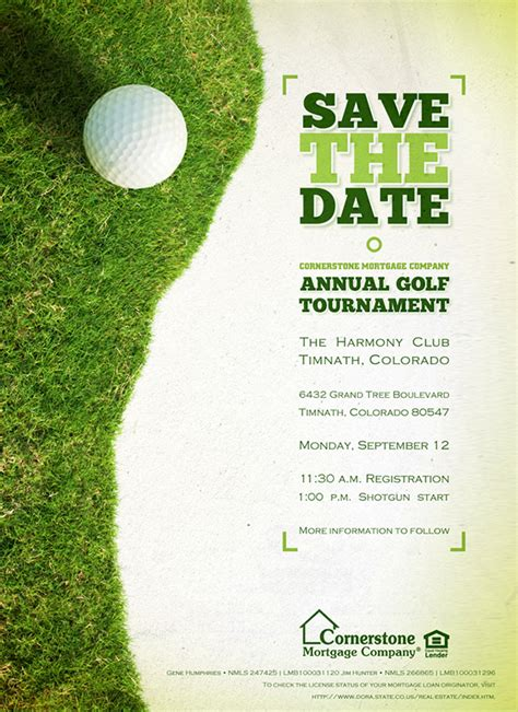 2011 Cornerstone Quot Colorado Quot Golf Tournament Collateral On Behance Golf Tournament Invitation Template Free