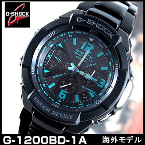 Casio G 1200bd 1a 楽天市場 送料無料 カシオ 防水 腕時計 時計 メンズ casio g shock スカイコックピット g