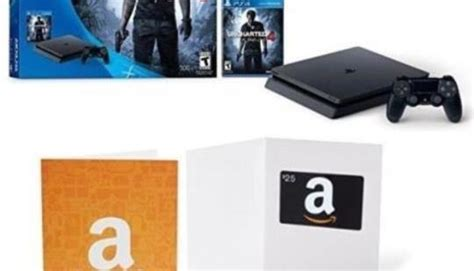 Amazon Ps4 Gift Card - amazon adds free 25 gift card to already discounted ps4 slim uncharted 4 bundle n4g