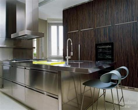 stainless steel kitchen furniture 15 contemporary kitchen designs with stainless steel cabinets rilane