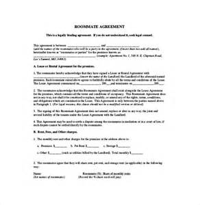 Roommate Contract Sle by Roommate Agreement Template 10 Free Word Pdf Document Free Premium Templates