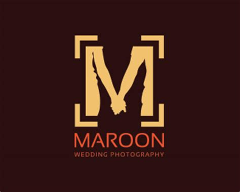 maroon logo maroon wedding photography designed by anzu4u brandcrowd