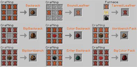 Minecraft Saddle Pack Original By Mojang backpacks mod minecraft 1 12 2 1 12 1 8 1 7 10
