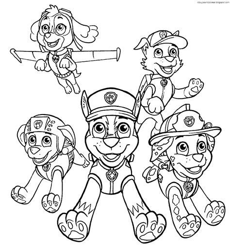 dibujos para pintar patrulla canina dibujos de personajes de patrulla canina pawn patrol