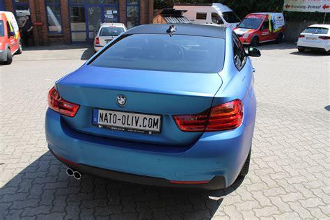 Auto Folie Blau Metallic Matt by Bmw 4er In Blau Matt Metallic Nato Oliv