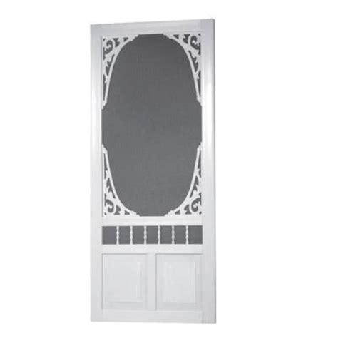solid vinyl screen doors screen tight 36 in x 80 in georgian solid vinyl white