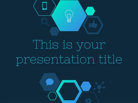 free presentation template dark and techy