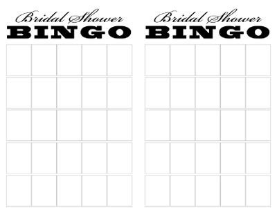 Blank Bingo Card Template For Bridal Shower by Bridal Shower Bingo Weddings Wedding Forums Weddingwire