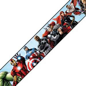 Kitchen Cabinet Shop Marvel Avengers Prepasted Wall Border Comic Book Accent