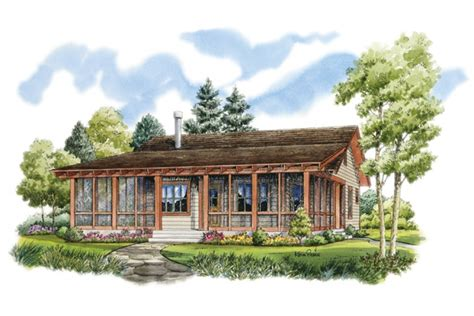 Rustic Sportsman Cabin Hwbdo76596 Low Country From Rustic Slab House Plans