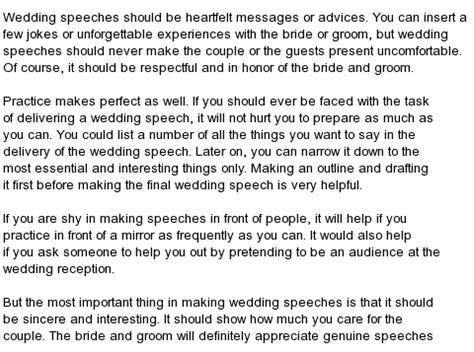 All kind of Best Wedding Speeches : Free Wedding Speeches