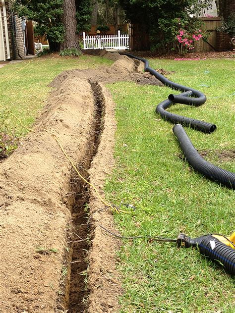 french drain in yard spillo caves