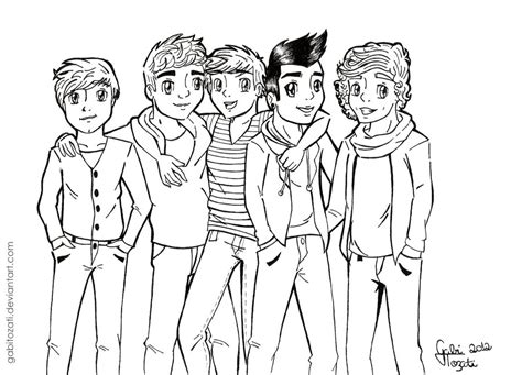 coloring pages one direction online one direction by gabitozati on deviantart