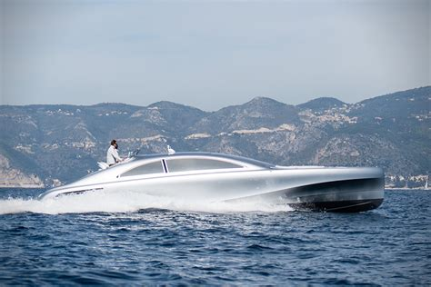 yacht hits boat mercedes designed silver arrow motor yacht hits the open sea