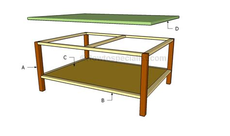 coffee table construction plans diy coffee table plans howtospecialist how to build