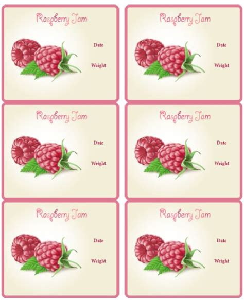 printable jam labels raspberry jam label papercrafts pinterest jars