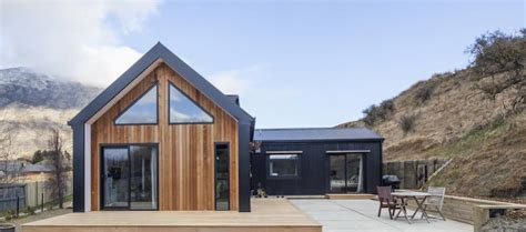 small house design nz little black barn by built me