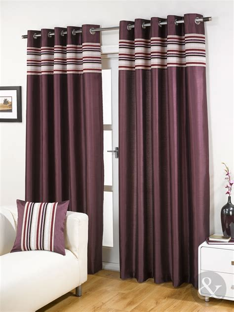 striped ready made curtains striped chenille silk curtains luxury eyelet ring top