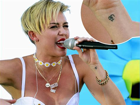 miley cyrus wrist tattoo 11 with indian tattoos boldsky