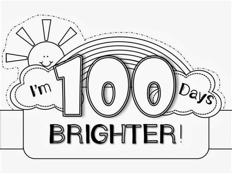 100th day crown template 100th day hat freebie 100 days smarter