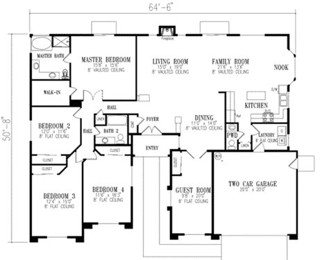 mediterranean style house plan 4 beds 2 5 baths 2484 sq