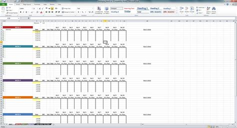 workout template spreadsheet excel matrix exles spreadsheets