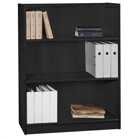 bush universal 5 shelf 72 bookcase bush universal 3 shelf bookcase in huali black wl12437 03