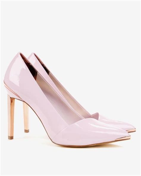 pointed high top court shoes light pink footwear ted