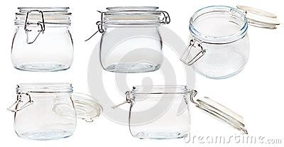 swing top bale jars set of small swingtop bale glass jar on white royalty free