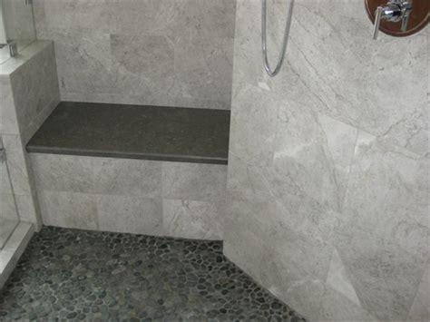 pebble bathroom floor modern pebble tile shower sliced pebble tile modern