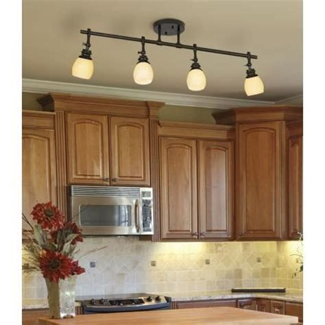 Light Fixtures For The Kitchen Elm Park 4 Bronze Track Wall Or Ceiling Light Fixture Small Kitchen Lighting Cabinets