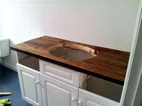 bathroom vanity tops ideas diy rustic wood vanity top http sharktails ca 2016 01