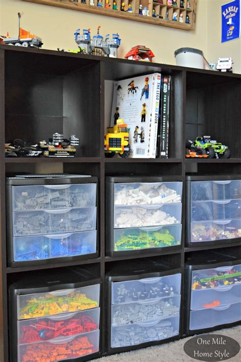 a simple way to organize toys our house now a home simple and decorative lego storage