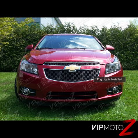 2011 2014 chevy cruze chrome front bumper driving fog