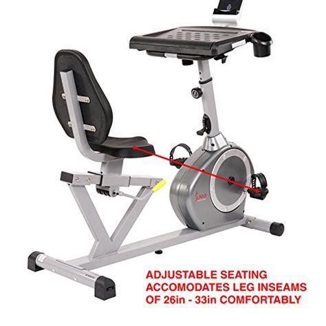 laptop workout desk and recumbent sunny health fitness magnetic recumbent desk exercise