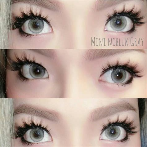 Mini Lapis Lens contact lens dreamcon mini nobluk grey color lens korean