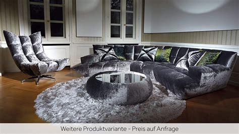 Bretz Cloud 7 by Sofa Cloud 7 Bretz Stoff Silber B 258cm H 78cm