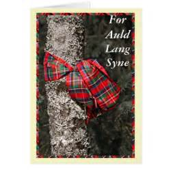 happy new year in scottish for auld lang syne scottish happy new year card zazzle