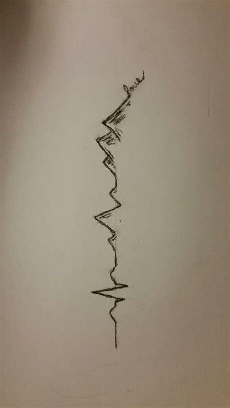 heartbeat ending tattoo cool ekg mountain tattoo idea tattoos pinterest i