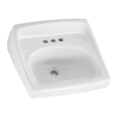 overflow hole in sink american standard lucerne wall hung bathroom sink in white