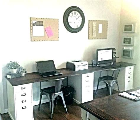home office for two two person desk home office two